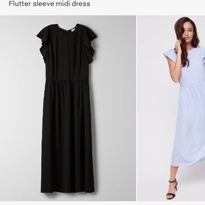Aritzia fleurette dress in black